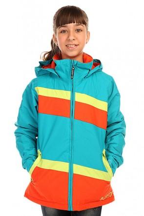 Куртка детская Burton Hart Jacket Bohmn/Limade/Clkwork, 1136409,  Burton, цвет голубой, зеленый, оранжевый
