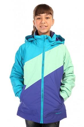 Куртка детская Burton Hart Jacket Antidt/Jadeite/Sorcr, 1136410,  Burton, цвет голубой, фиолетовый