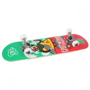 Скейтборд в сборе детский Footwork Crispy Mid Red/Green 27.75 x 7 (17.8 см), 1146428,  Footwork, цвет зеленый, красный