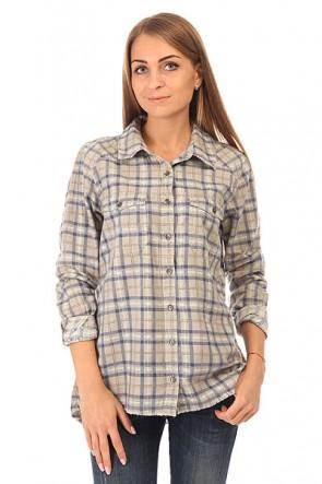 Рубашка в клетку женская Billabong Sol Rider Blue Cruz, 1148798,  Billabong, цвет серый, синий
