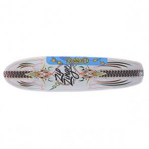 Дека для скейтборда для лонгборда Krooked Zinger Nano Kuztomz 29 x 7.125 (18.1 см), 1129837,  Krooked, цвет белый, мультиколор