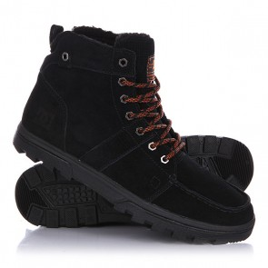 Ботинки зимние DC Woodland Black/Orange, 1129953,  DC Shoes, цвет черный