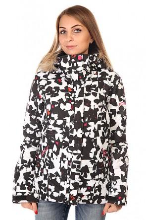 Куртка женская Roxy Jet Ski Jk J Snjt Flower Pop, 1129975,  Roxy, цвет белый, черный