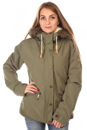 Куртка парка женская Roxy Steffi Jk Dusty Olive, 1129983,  Roxy, цвет зеленый