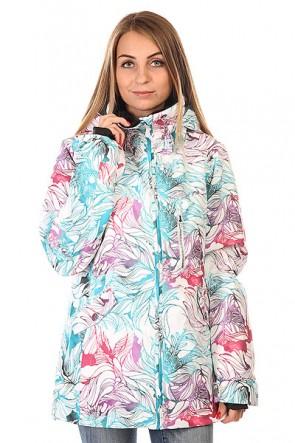 Куртка женская Roxy Wildlife Jk J Snjt Snowtwist, 1129987,  Roxy, цвет белый, голубой, красный
