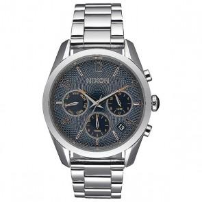 Кварцевые часы женские Nixon Bullet Chrono 36 Navy Rose Gold, 1159615,  Nixon, цвет белый