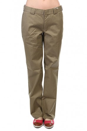 Штаны женские Dickies Girls Work Pant Tumble Weed, 1108834,  Dickies, цвет коричневый