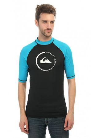 Гидрофутболка Quiksilver Lock Up Shorts Black/Hawaiian Ocean, 1146497,  Quiksilver, цвет голубой, черный