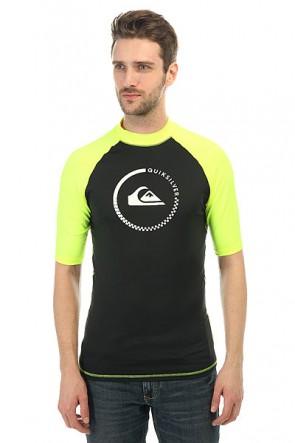Гидрофутболка Quiksilver Lock Up Shorts Black/Safety Yellow, 1146498,  Quiksilver, цвет желтый, черный