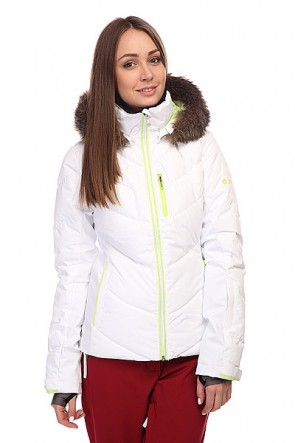 Куртка женская Roxy Snowstorm Bright White, 1100449,  Roxy, цвет белый