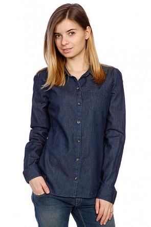 Рубашка женская Volcom Not So Classic Vbj Ls Indigo, 1082624,  Volcom, цвет синий