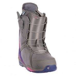 Ботинки для сноуборда женские Burton Felix Gray/Ak Multi, 1082652,  Burton, цвет серый