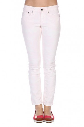 Джинсы узкие женские Roxy Suntrippers Tie-dye Sunrise Pink, 1086292,  Roxy, цвет белый, розовый