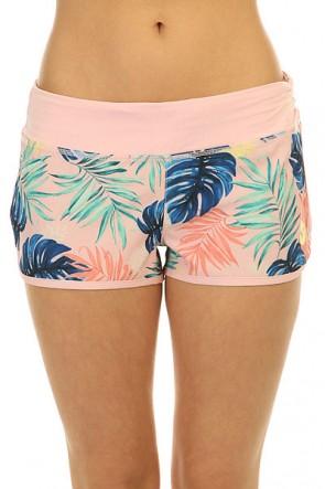 Шорты пляжные женские Roxy Endless Sum2 P Beach Palm Combo Ros, 1146602,  Roxy, цвет розовый