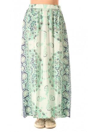 Юбка женская Billabong Silver Bloom Skirt Washed Jade, 1153819,  Billabong, цвет белый, голубой, зеленый
