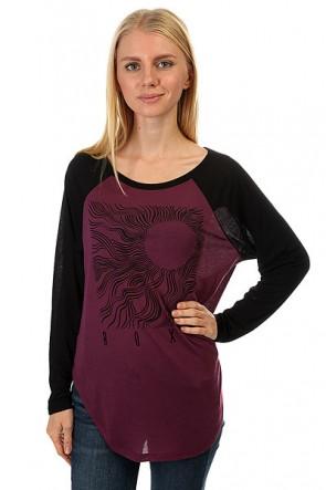 Лонгслив женский Roxy Naminoricallof Italian Plum, 1158008,  Roxy, цвет фиолетовый, черный