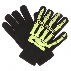 Перчатки Grenade Scull Hand Glove Lime, 1130207,  Grenade, цвет зеленый, черный