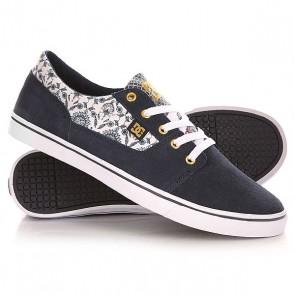 Кеды кроссовки низкие женские DC Tonik W Se Navy/Blue/White, 1141533,  DC Shoes, цвет белый, синий