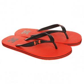 Вьетнамки DC Spray Tangerine, 1146767,  DC Shoes, цвет красный