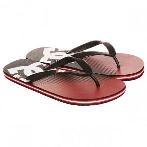 Вьетнамки DC Spray Graffik Red/Black, 1146773,  DC Shoes, цвет красный, черный