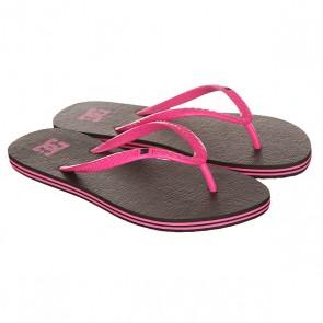Вьетнамки женские DC Spray Black/Pink, 1146778,  DC Shoes, цвет розовый, черный