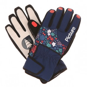 Перчатки женские Picture Organic Pretty Glove Flower, 1151705,  Picture Organic, цвет мультиколор, синий