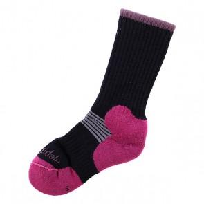Носки средние женские Bridgedale Cross Country Ski Black, 1073591,  Bridgedale, цвет розовый, черный