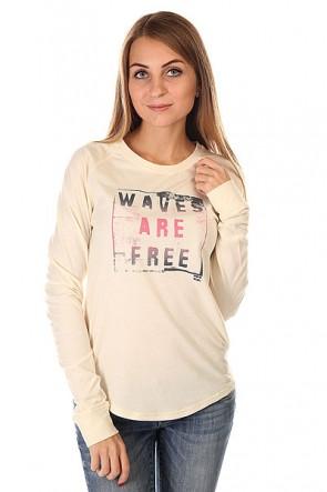 Лонгслив женский Billabong Waves Are Free White Cap, 1130301,  Billabong, цвет бежевый