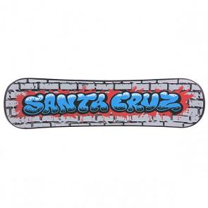 Сноускейт Santa Cruz Bubble Graffiti Black Plank, 1103293,  Santa Cruz, цвет серый, черный