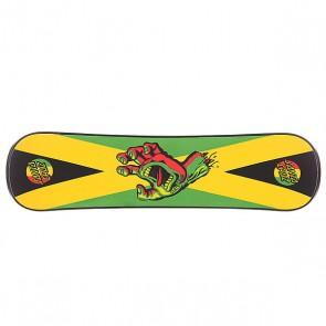 Сноускейт Santa Cruz Rasta Hand Black Plank, 1103298,  Santa Cruz, цвет зеленый, черный