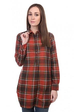 Блузка женская Burton Wb Pearl Po Wvn Flame District Pld, 1109276,  Burton, цвет красный