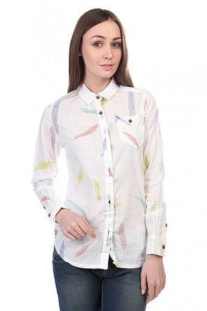 Рубашка женская Burton Wb Bristol Wvn Shrt Vanilla Feather, 1109278,  Burton, цвет белый