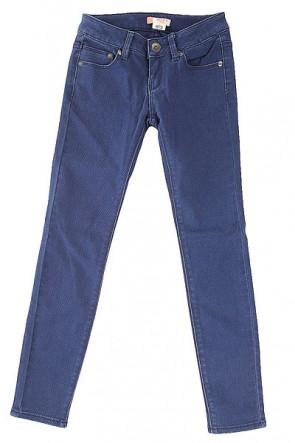 Джинсы прямые детские Roxy Tracy G Pant Blue Print, 1156254,  Roxy, цвет синий