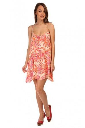 Платье женское Roxy Sweet Vida Prnt Hearts Of Palms Sea, 1144828,  Roxy, цвет бежевый, мультиколор