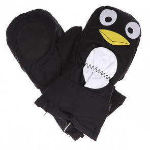 Варежки сноубордические детские Celtek Superstar Mitten Penguin, 1133536,  Celtek, цвет белый, желтый, черный