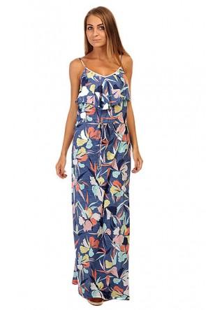 Платье женское Roxy Easy Tropical L J Cvup Noosa Floral Combo, 1141962,  Roxy, цвет мультиколор, синий