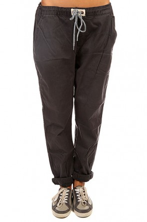 Штаны широкие женские Roxy Fonxy Twill J Pant Dark Midnight, 1141969,  Roxy, цвет серый