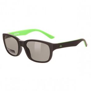 Очки детские Quiksilver Salty Rubberized Black/Grey, 1142024,  Quiksilver, цвет зеленый, черный