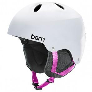 Шлем для сноуборда детский Bern Snow EPS Diabla Satin White/Black Liner, 1145002,  Bern, цвет белый