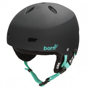 Шлем для сноуборда женский Bern Snow EPS Brighton Matte Black/Black Knit, 1145004,  Bern, цвет черный