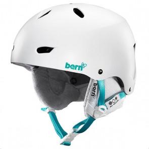 Шлем для сноуборда женский Bern Snow EPS Brighton Satin White/White Liner, 1145009,  Bern, цвет белый