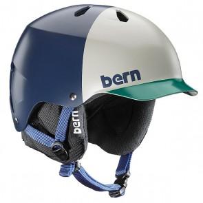 Шлем для сноуборда Bern Snow Hardhat Watts Matte Navy Blue Hatstyle/Black Liner, 1145050,  Bern, цвет белый, зеленый, синий