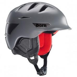 Шлем для сноуборда Bern Snow Zipmold Rollins Satin Grey/Black Liner, 1145060,  Bern, цвет серый