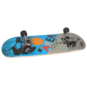 Скейтборд в сборе детский детский Fun4U Cool Pineapple Blue 28 x 8 (20.3 см), 1146833,  Fun4U, цвет мультиколор