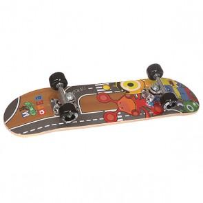 Скейтборд в сборе детский Fun4U Little Monster Multi 24 x 6 (15.2 см), 1146835,  Fun4U, цвет мультиколор