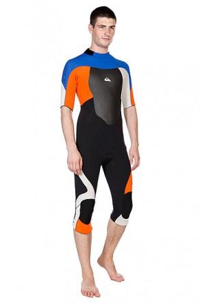 Гидрокостюм (Комбинезон) Quiksilver Quiksilver Sl Backzip Fs Uni, 1092188,  Quiksilver, цвет оранжевый, синий, черный