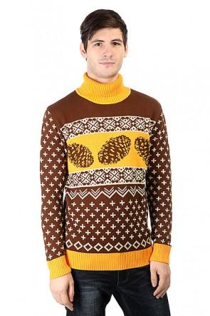 Свитер Запорожец Cone Brown/Yellow, 1160072,  Запорожец, цвет коричневый, оранжевый