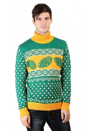 Свитер Запорожец Cone Green/Yellow, 1160073,  Запорожец, цвет зеленый, оранжевый