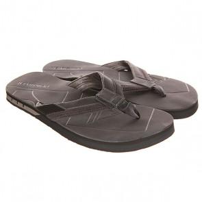 Вьетнамки Quiksilver Hiatus Sndl Black/Grey, 1142128,  Quiksilver, цвет серый, черный
