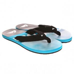 Вьетнамки Quiksilver Basis Sndl Black/Blue, 1142133,  Quiksilver, цвет голубой, серый, черный